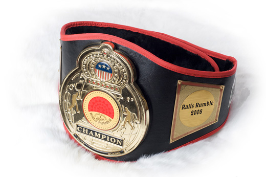 Rails Rumble 2008 Champion Belt