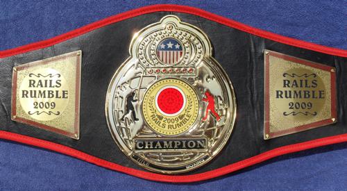 2009 Rails Rumble Championship Belt